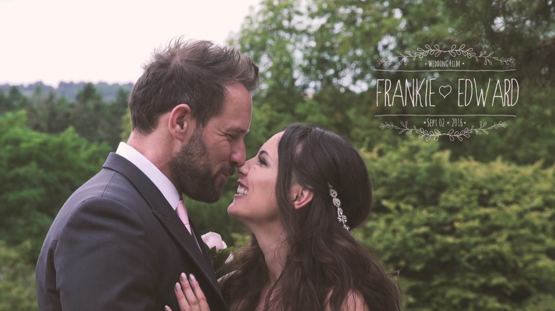 Herefordshire wedding videographer at Whitbourne Hall