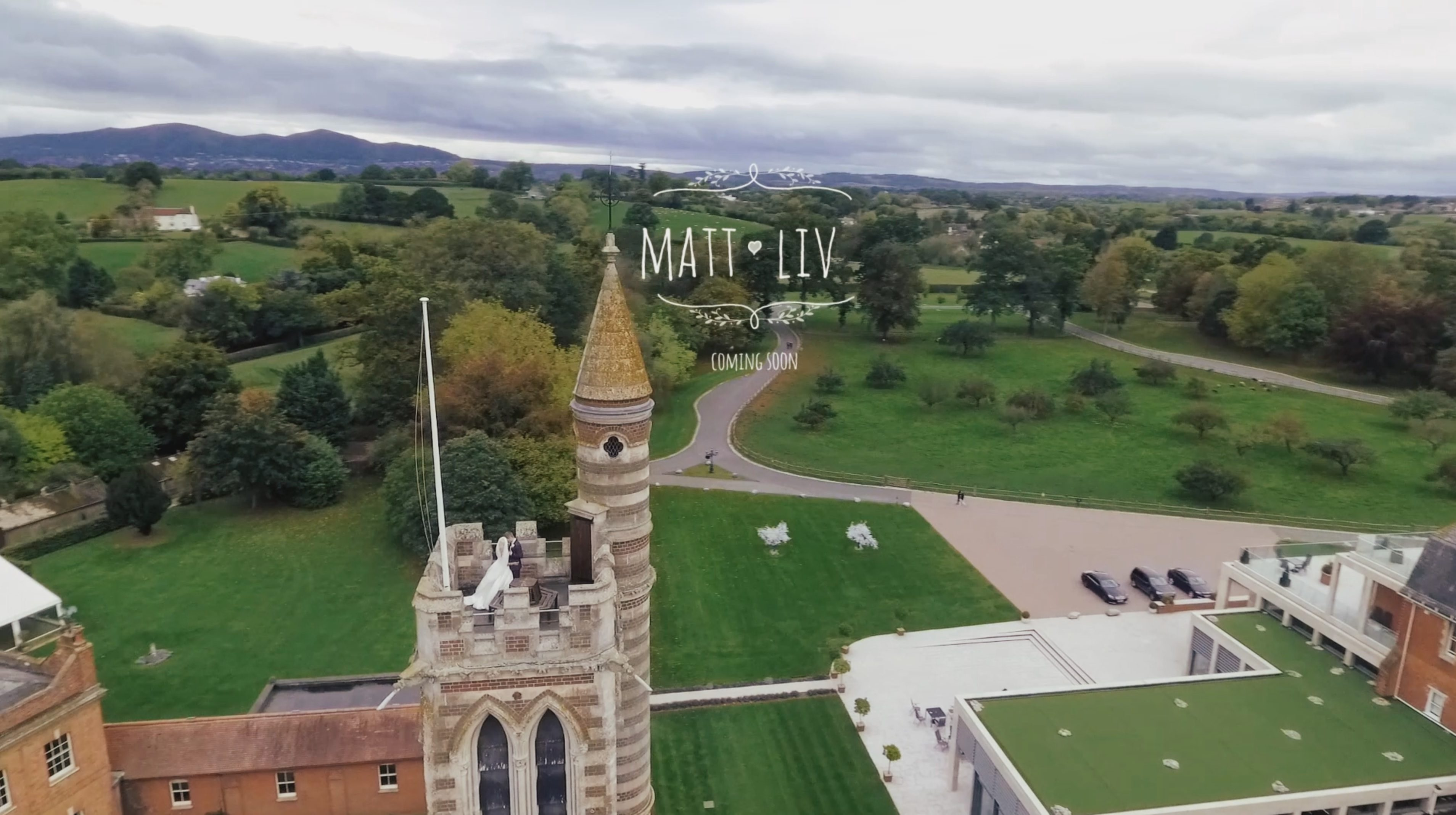 Aerial wedding videography