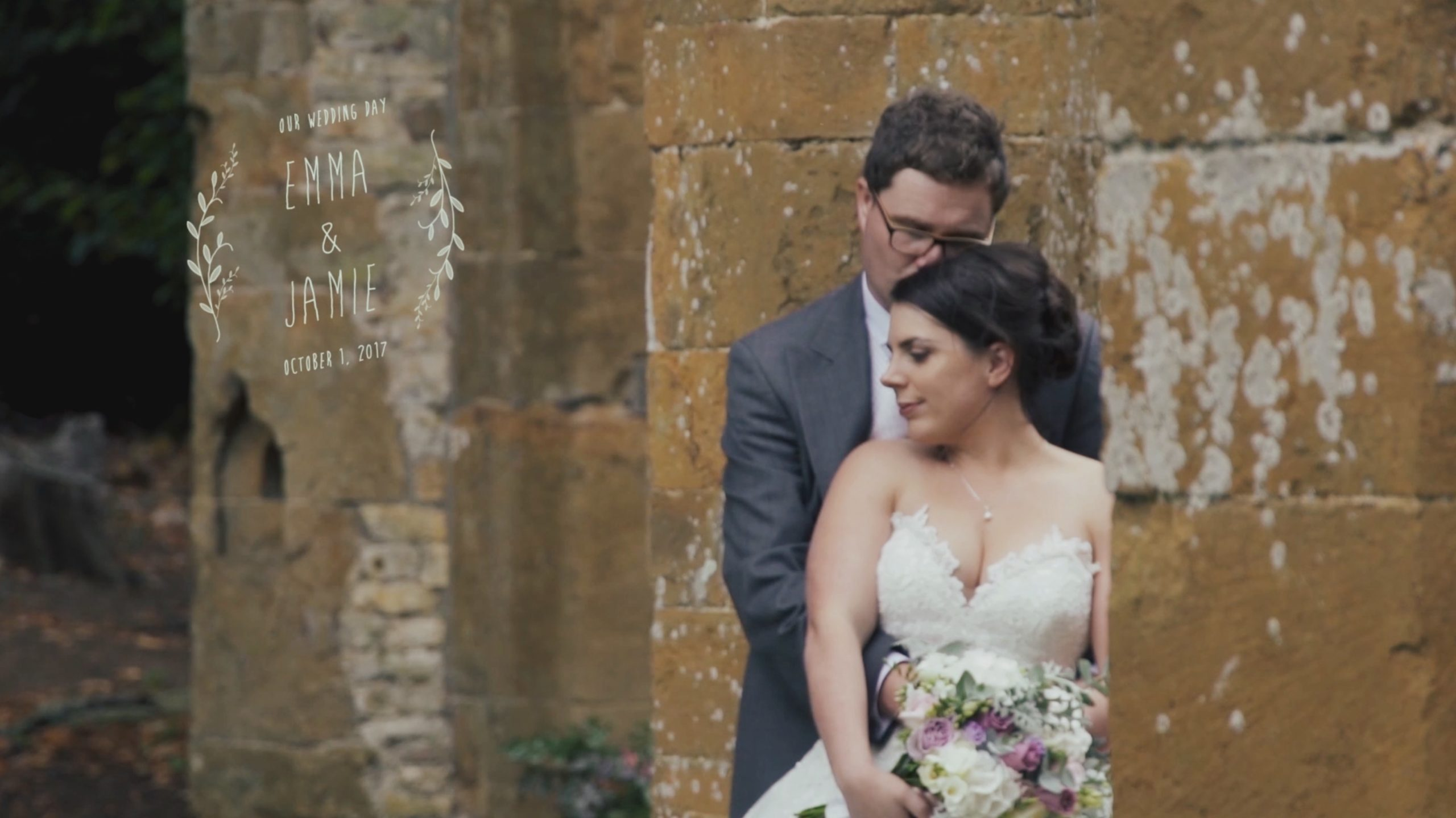 A West Midlands wedding videographer at an Ettington Park wedding