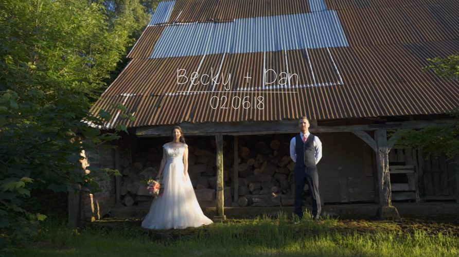 Worcestershire wedding videographer at Oldcastle