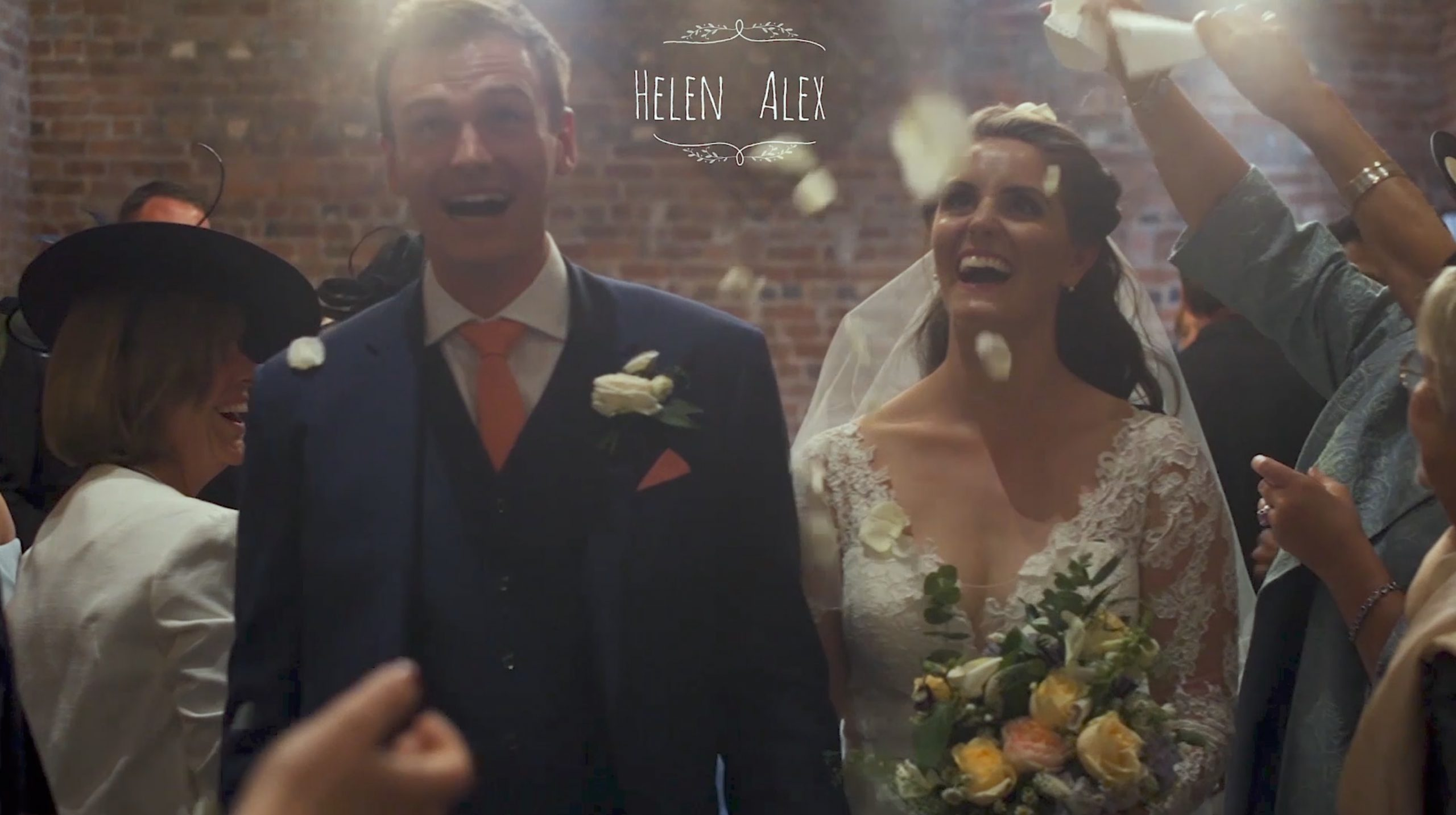 Worcestershire wedding videographer at Curradine Barns